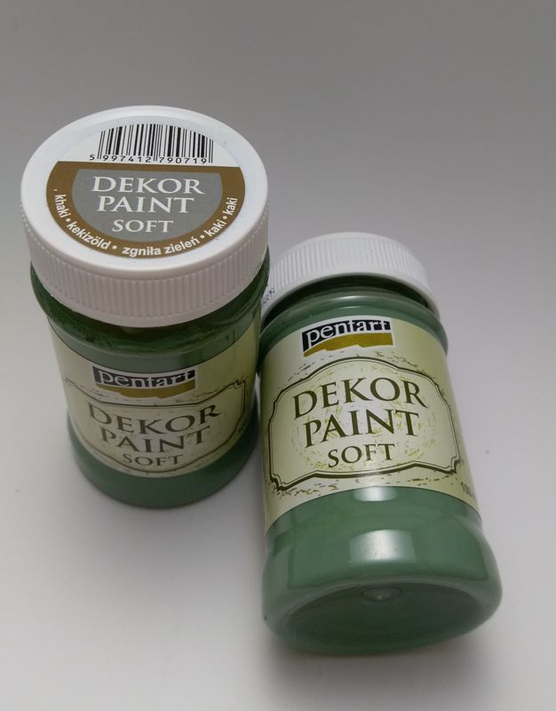 Dekor paint softk haki zelená 100 ml
